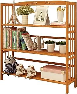 Jiji Librería Bamboo Estantería de Suelo Simple Cuadro de la Tabla Creativa del Estante Librero pequeño Piso de Almacenamiento en Rack de combinación de los niños Librero