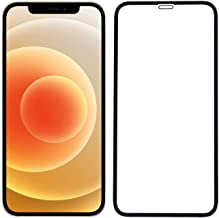 POPIO Tempered Glass for iPhone 12; iPhone 12 Pro (Black) Edge to Edge Full Screen Coverage With Easy Installation Kit