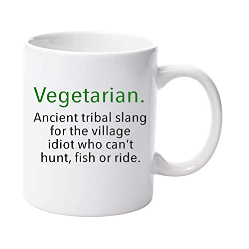 Vegetarian Slang Word Funny 11oz Ceramic Mug Gift Christmas