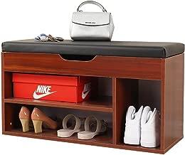 Mamta Decoration Sheesham Wood Storage Shoe Rack Bench for Living Room | Brown