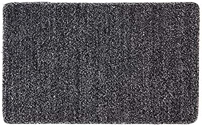 Fab Habitat Polycot Nonslip Multipurpose Mat, 80 cm Length x 50 cm Width, Black