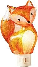 Sitting Woodland Fox Orange 3.5 x 6 Inch Acrylic Decorative Plug-In Wall Night Light