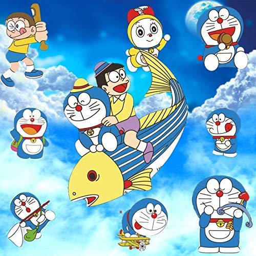 Renfengchui Un sueño lindo dibujos animados Nobita Doraemon Doraemon habitación infantil impermeable pegatinas de pared murales decorativos