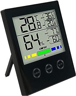 XYXZ Termómetro Digital para Habitación con Pantalla LCD, Higrómetro, Control Táctil Electrónico, Temperatura, Medidor De ...
