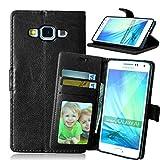 FQY-TEC Samsung Galaxy A5(2014) Coque / A500FU Coque, [Noir][Cuir PU] et[TPU]...