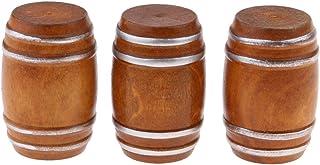 KESOTO 3 Piezas Barril de Cerveza Modelo Accesorios de Habitación para 1/12 Casa de Muñecas en Miniatura