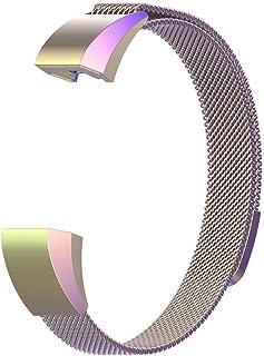 luermeステンレススチール調節可能Wristbands for Fitbit Ace Kidsスマートブレスレット磁気ミラネーゼループSmart Watch交換ストラップwithメタルバックル