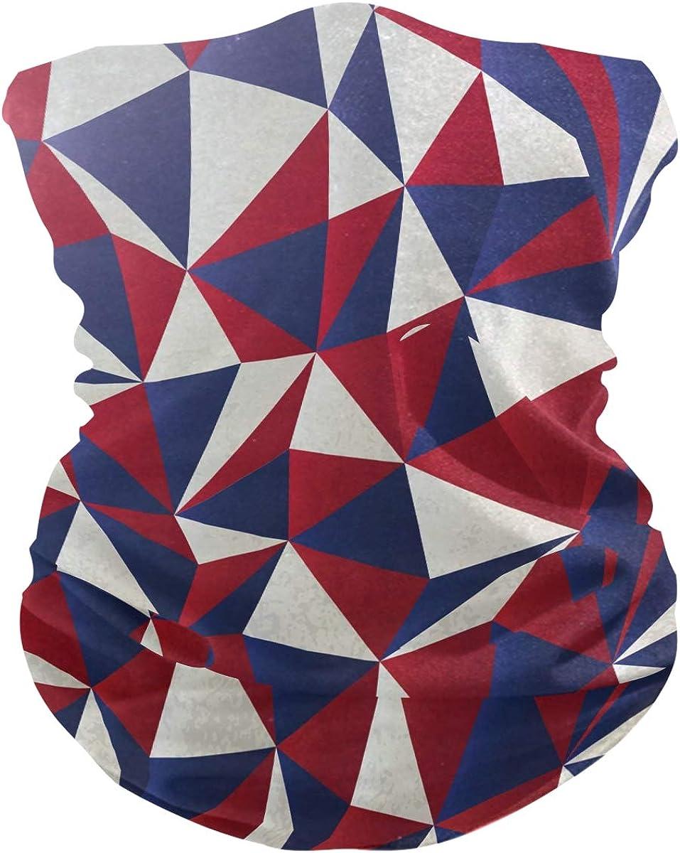 Face Scarf Bandana Neck Gaiter American Colors Headband Headwear Bandana for Cycling Fishing Hiking Camping