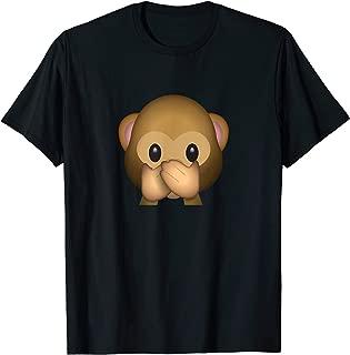 Speak No Evil Monkey Face Emoticon Emoji T-shirt