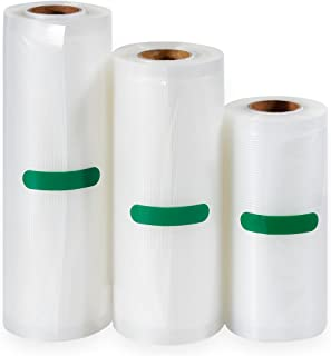 Anpro 3 Volumes of Different Sizes of Food Vacuum Bags, 3 Rolls Pake 12 x500cm, 17x500cm and 22x500cm