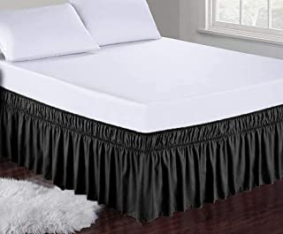 Obytex Wrap Around Bed Skirts Fashional Elastic Dust Ruffle Silky Soft & Wrinkle Free Classic Stylish Look in Your Bedroom