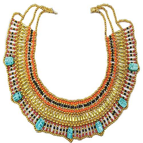Cleopatra Antike Ägyptische Bauchtanz-Halskette, handgefertigt in Ägypten, Maße: 28 cm außen und 14 cm Innenseite, Ref. 17 m.