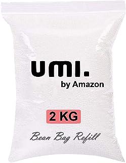 Amazon Brand - Umi. Premium 2 Kg Bean Bag Refill/Filler - Cow White (2 kg Beans - 1400 Grams net Weight as per Indian Stan...