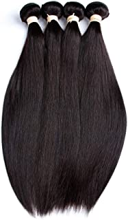 Brazilian Lace Closure Human Hair Wigs For Women Non Remy Hair Straight 4×4 Lace Closure Wigs With Baby Hair YUXUJSA (Colo...