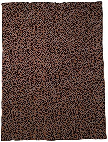 Vintage decoratieve deken met luipaardprint, polyester zachte warme fauteuil Bank gooit dekens Home Decor 51″bij 67″