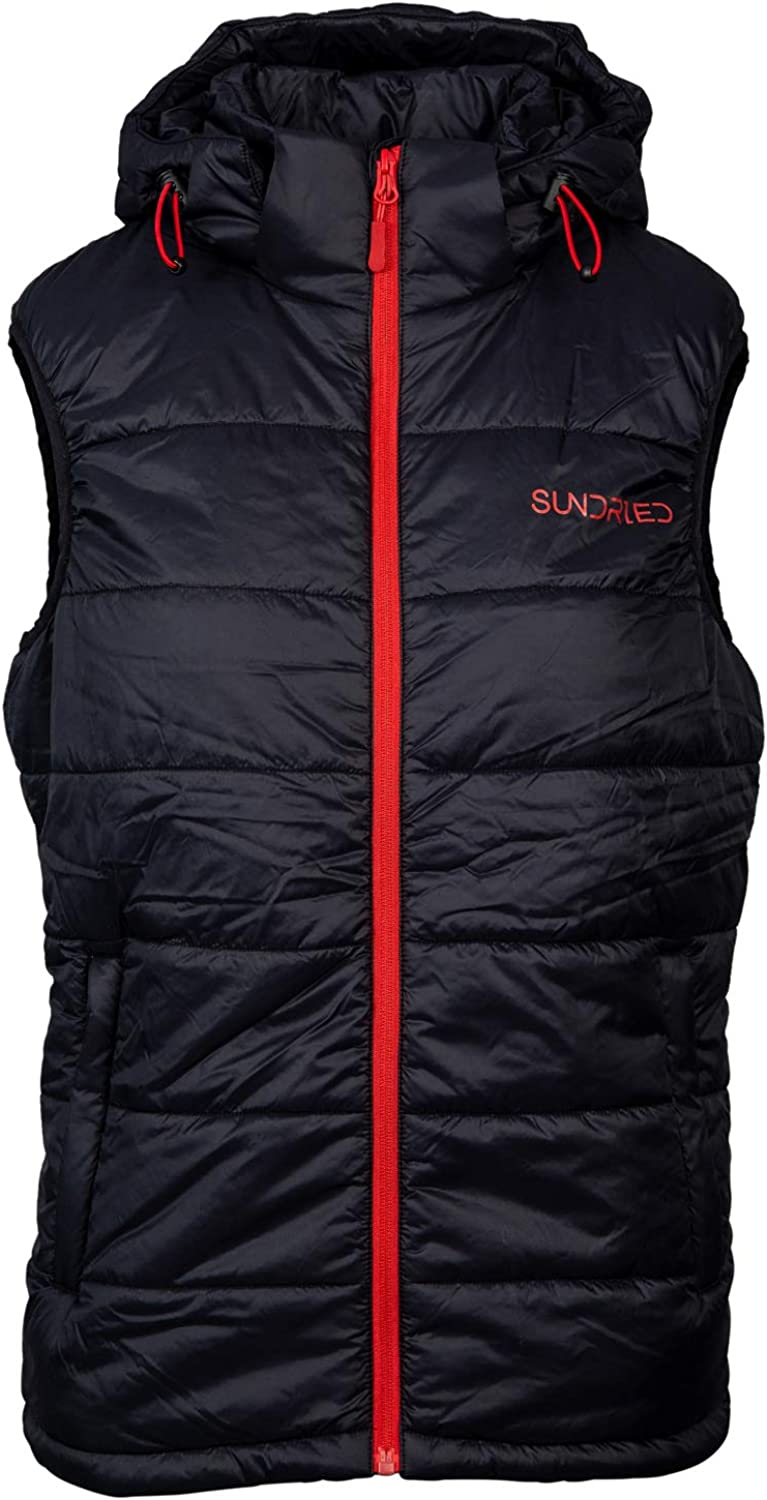 Sundried Mens Quilted Padded Gilet Recycled Fabrics Lightweight Breathable