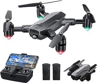 Dragon Touch Drone Plegable con Cámara 1080P HD Avión con WiFi FPV Control Remoto RC Quadcopter Drone para Adultos Niños P...