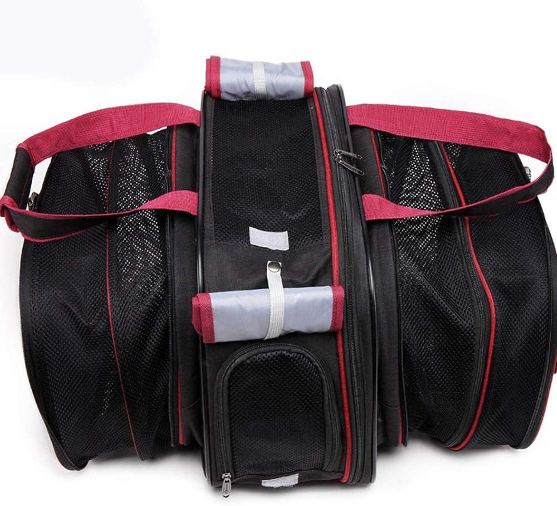 FELICIGG Pet Bag Dog Out Backpack Portable Retractable Cat Dog Portable Dog Bag (color   Black, Size   L)