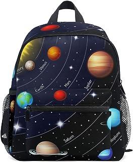 MOFEIYUE أطفال حقيبة ظهر الكون غالاكسي النظام الشمسي حقيبة مدرسية روضة أطفال طفل ما قبل المدرسة للبنين والبنات والأطفال