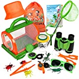 Bug Catcher Kit for Kids, Outdoor Explorer Kit with Binoculars, Critter Case and Butterfly Net, Great Exploration Toy for Boys Girls Outdoor Adventure, Camping and Hiking