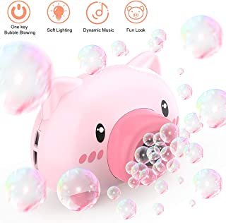 Bubble Machine Kids Toy Electric Automatic Blowing Bubble Maker Machine Camera Shape with led Flashing Lights and Music