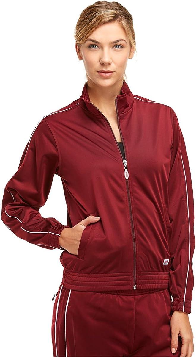 Soffe Girl's Warm-Up Jacket, Maroon