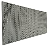 XL Lochblech aus Metall mit Schlüssellochung 25 mm. Pulverbeschichtet in Hellgrau, Stärke ca. 1...