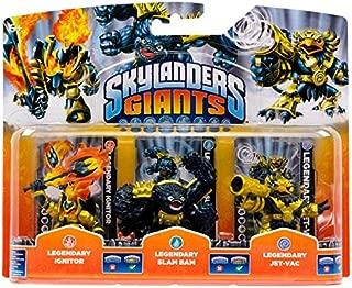 Skylanders Giants Legendary Ignitor , Legendary Slam Bam , Legendary Jet-Vac