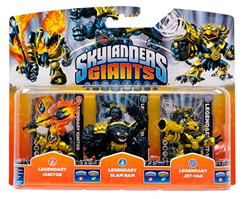 Skylanders Giants Legendary 3-pack: Ignitor, Slam Bam, and Jet-Vac