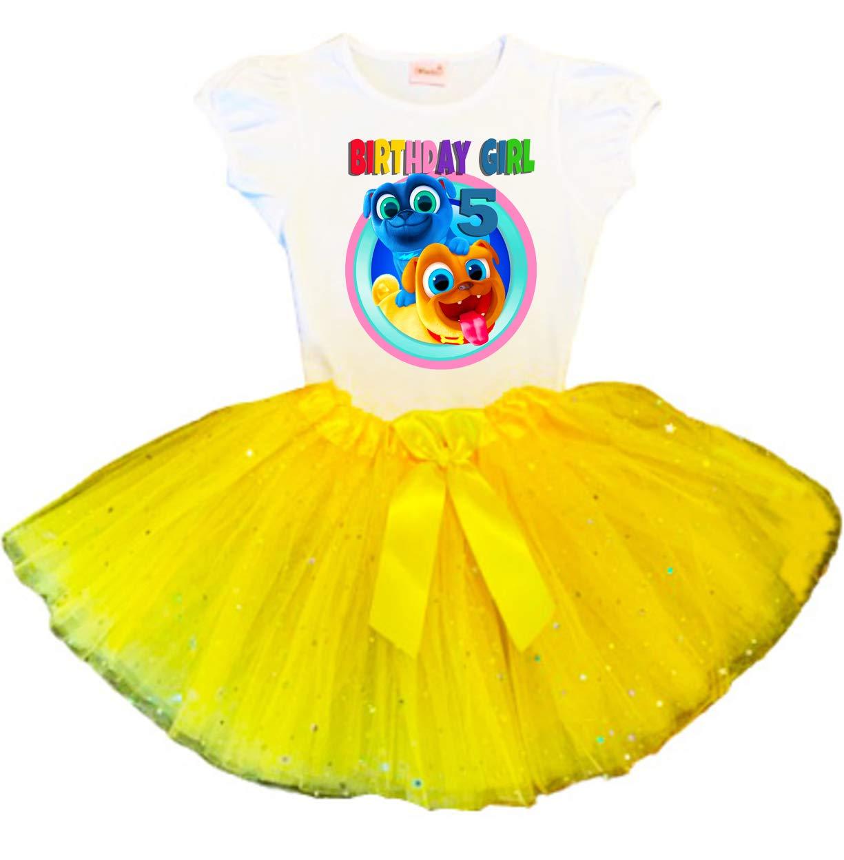 Puppy Dog 25% OFF Pals Birthday Tutu 5th Yellow Trust Party Dress Tut