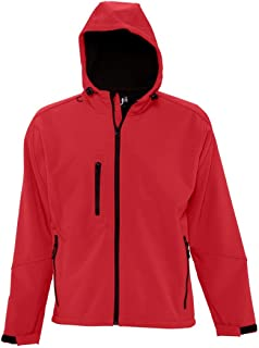 SOLS Men's Replay Hooded Soft Shell Jacket