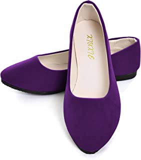 Women Flat Shoes Comfortable Slip on Pointed Toe Ballet Flats