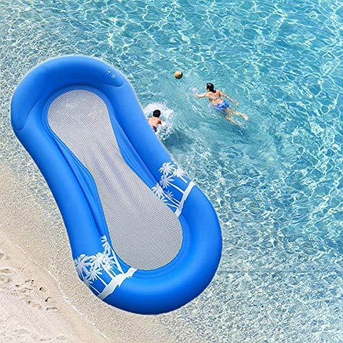 Towinle Wasser Luftmatratze Perfekte Schwimmmatratze mit Netz Aufblasbare Aqua Lounge mit Kopfteil Cool Wasserspielzeug Strandspielzeug Pool Spielzeug