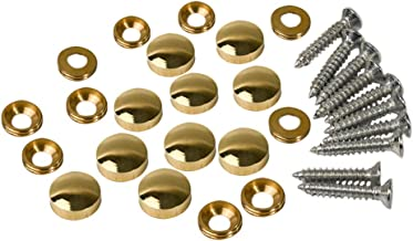 10PCS Mirror Screws,Brass Mirror Screws Cap Cover Nails Fasteners 12mm Golden for Decorative Mirror, Sign/Advertising Hard...