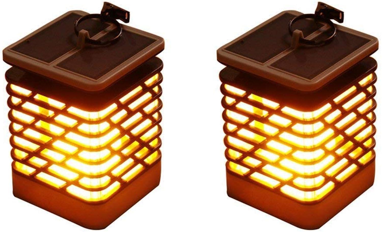 MYY Solarlichter LED Flackernde Flamme RH405L IP55 75Leds Hngende Laterne Wasserdicht Weihnachten Urlaub Party Dekorativ (2Pack)