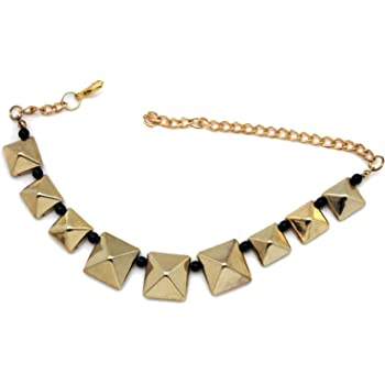 TFJ Women Fashion Jewelry Boot Bracelet Metal Chain High Heels Shoe Anklet BOSS Charm Gold Color