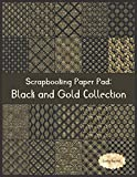 Scrapbook Paper Pad: Black and Gold Collection: 20 Unique Design Background Crafting Sheets (Crafty Harvest Background Papers)