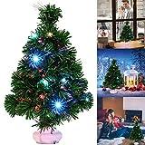 Fascigirl Mini Arbol Navidad, LED Mini Arbol Navidad Luces Árbol de Navidad de Mesa 47cm...
