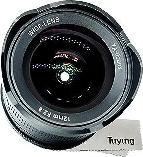 7artans - Objetivo gran angular de 12 mm f2.8 para Sony E-mount APS-C cámaras sin espejo A6500 A6300 A6000 A6500 A6300 A7 enfoque manual Prime fijo