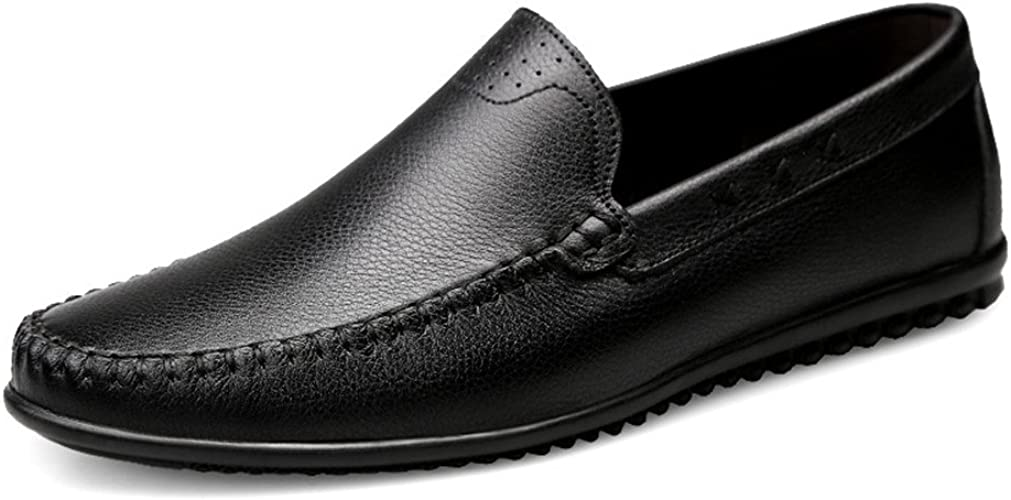 Shuo lan hu wai Mocassins pour Hommes en Cuir PU Style de Conduite Hollywood Mocassins,Chaussures de Cricket (Couleur   Noir, Taille   37 EU)
