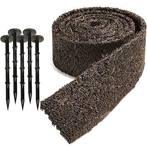Black Rubber Mulch Border for Landscaping