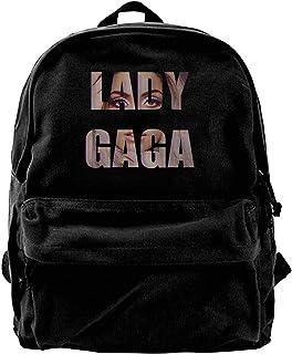 NJIASGFUI Mochila de lona Lady Gaga Love Leisure Tennis Gimnasio Senderismo portátil bolsa de hombro para hombres y mujeres