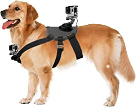 NEWTTY KAY Dog Harness Fetch Strap Belt Back Chest Mount with Adjustable Buckle Screw for GoPro Hero 7/6/5/5 Session/4 Session/4/3+/3/2/1