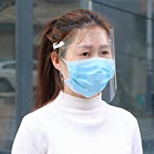 Protective Equipment Transparent Baffle Block Protects Against Full Droplets And Dust Suitable for outdoor (Color : Clear)