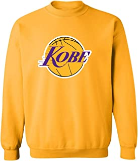 Gold Los Angeles Kobe Logo Crew Neck Sweatshirt