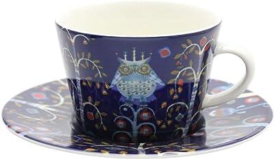 【正規輸入品】 iittala (イッタラ) コーヒーカップ&ソーサー Taika 幅16.5cmx奥行16.5cmx高さ11cm ブルー 約200ml 1054172