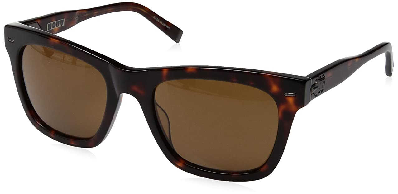 John Varvatos V510 Square Sunglasses, Tortoise UF, 21 mm