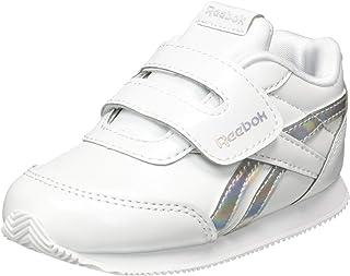 Reebok Royal CLJOG 2 KC, Zapatillas de Deportes para Niños, Blanco-Plata, 21.5 EU