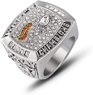 Twcuy 1997-1998 Denver Broncos Football Super Bowl XXXII Championship Replica Ring for Fans Men's Gift