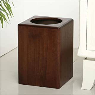 Commercial Waste Basket Chinese Waste Paper Basket Retro Trash Can Home Living Room Kitchen Creative Wooden Office Storage...